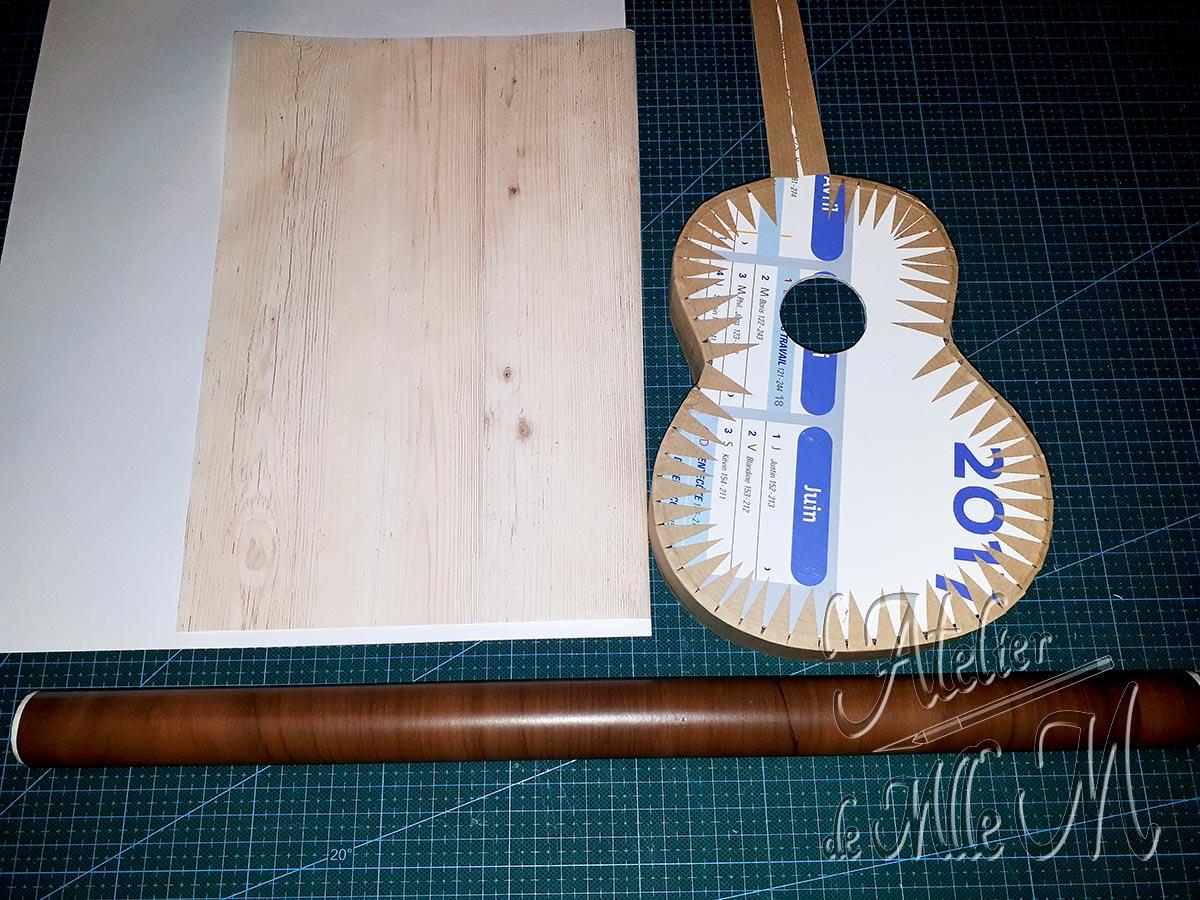 Boîte guitare en carton brute (choix du papier d'habillage).