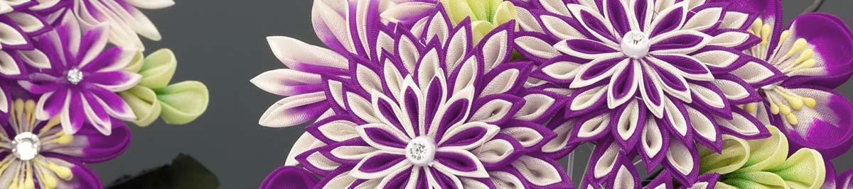 Entête Tsumami zaiku (fleurs).