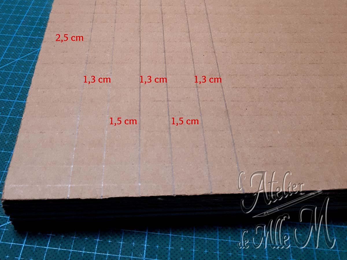 Photo des découpes pour fabriquer le chevalet en carton pour broderie diamant (diamond painting) à faire soi-même. Tutoriel / DIY disponible sur https://www.latelierdemllem.com/tuto-chevalet-carton-broderie-diamant-diamond-painting/