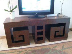 Un meuble TV design et original en carton.