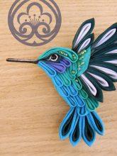 Tsumami zaiku colibri - oiseau de MomoKanzashi sur Etsy.